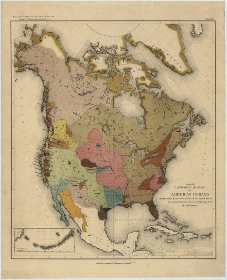 A Colorful Late-19th-Century Map of Native American Languages | Archivance - Miscellanées | Scoop.it