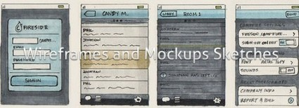 25 Examples of Wireframes and Mockups Sketches | inspirationfeed.com | Digital_Chimera's Art and Design Mag | Scoop.it