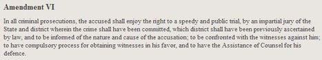 Bill of Rights Transcript Text | Amendment 6 | Scoop.it