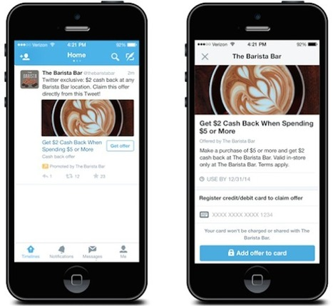 Twitter Expands Its Commerce Lineup With Twitter Offers, Which Link To Your Credit Or DebitCard | MarketingHits | Scoop.it