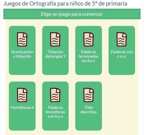 Cinco juegos online para aprender ortografía | Recursos Homeschooling | Scoop.it