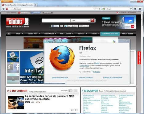 Mozilla publie Firefox 12 | TICE & FLE | Scoop.it