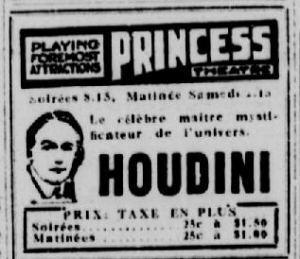 Visite fatale à Montréal pour l'illusionniste Harry Houdini [22 ... | Magie | Scoop.it