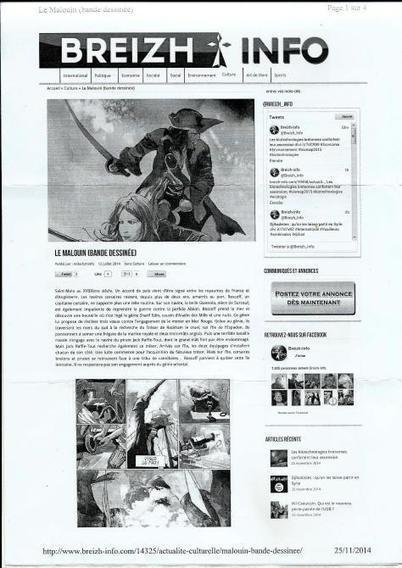 Une chronique du Malouin dans Breizh Info | Bande dessinée et illustrations | Scoop.it