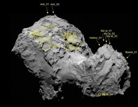 Rosetta a trouvé les racines de la chevelure de «Tchouri»   Thierry's TechNews   Scoop.it