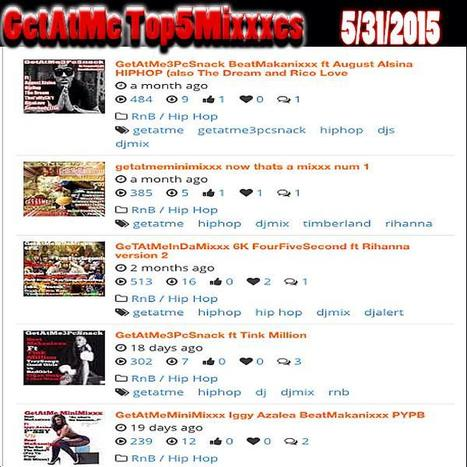 "GetAtMe Top5Mixxxes 5/31/2015 @AugustAlsina 3PcSnk ""HIPHOP"" #HipHop hits #1 