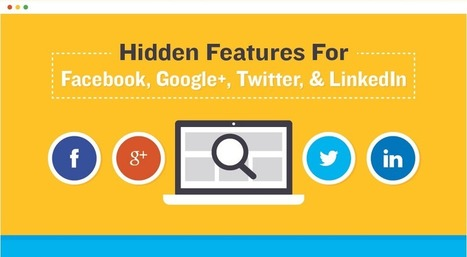 Some social networking features you probably didn't know existed (infographic) | Business in a Social Media World | Scoop.it