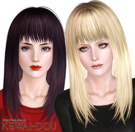 Cecile.K Long (Hair for The Sims3) << KEWAI-DOU | bubu=) | Scoop.it