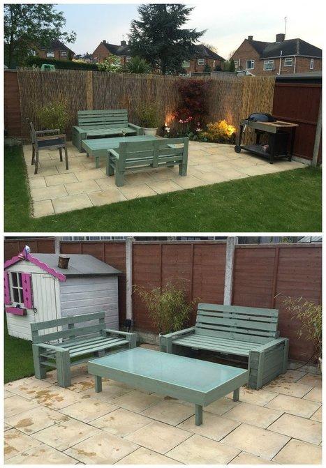 Garden Patio Furniture Set   1001 Pallets ideas !   Scoop.it