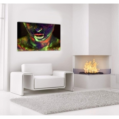 Tableau Pop Art Bouche Phosphorescente - ArtWall and Co   Décoration maison intérieure et extérieure   Scoop.it
