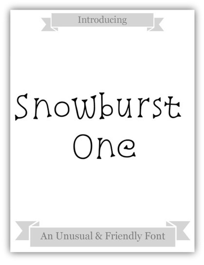 Martiel Beatty: Font of the Week: Snowburst One by Annet Stirling | What the Font! | Scoop.it