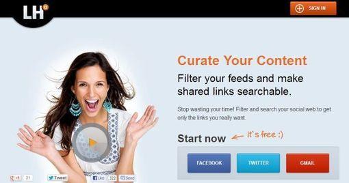 LikeHack - curación de contenidos personales de enlaces compartidos en Twitter, Facebook, y GMail   Educación a Distancia (EaD)