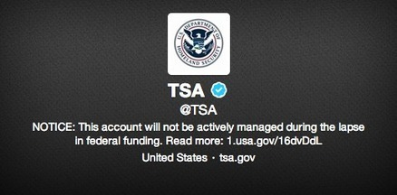 Twitter Feeds Go Dark During the US Government Shutdown | Absolut1893 | Scoop.it