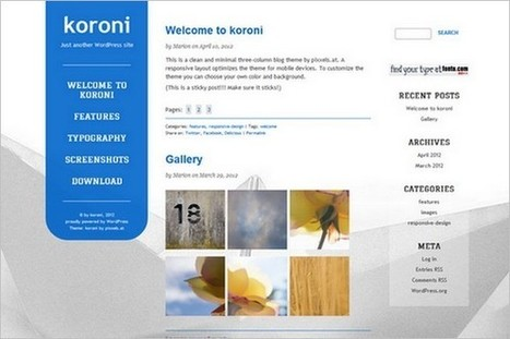 koroni is a free WordPress Theme by pixxels.at | WP Daily Themes | Free & Premium WordPress Themes | Scoop.it