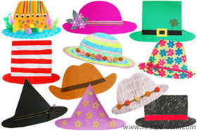 Easy Paper Hat Craft | Kids' Crafts | FirstPalette.com | Craft Activities for Kids | Scoop.it