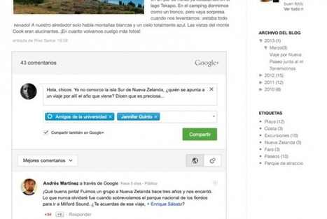 Comentarios en Google Plus ya integrados en Blogger.- | Google+, Pinterest, Facebook, Twitter y mas ;) | Scoop.it