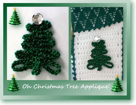Oh Christmas Tree Applique | To Crochet or To Knit that is the question | Scoop.it