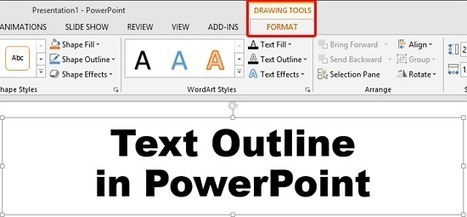 Text Outline in PowerPoint 2013 | Moodle and Web 2.0 | Scoop.it