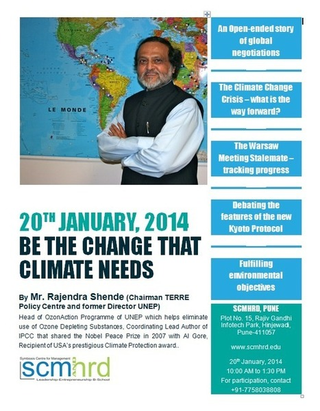 Be The Change That Climate Needs - Lecture By Rajendra Shende, 20 January 2014 for Management students | Oven Fresh | Scoop.it