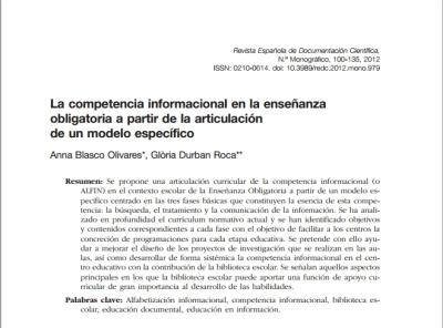 La competencia informacional en el aula | Bibliotecas escolares y ... | ALFIN Iberoamérica | Scoop.it
