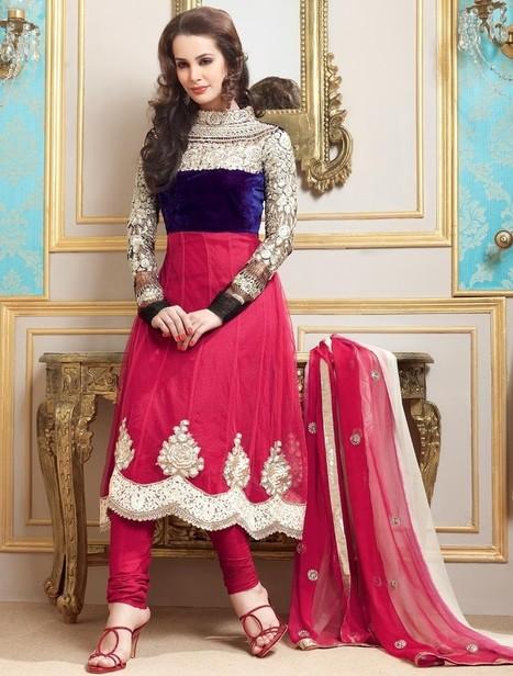 Gravity Fashion - Charming Deep Pink & Deep Purple Salwar Kameez | Indian Ethnic Wear 2013 | Scoop.it