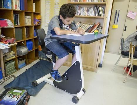 Una escuela de Canadá usa bici-pupitres en niños con déficit de atención   (Todo) Pedagogía y Educación Social   Scoop.it