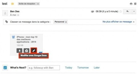 Gmail convertit automatiquement les pièces jointes Office au format Google Docs | Apps for business | Scoop.it
