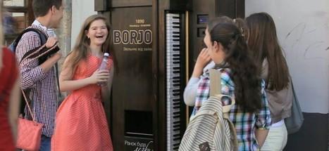 Borjomi récompense les mélomanes avec un distributeur automatique transformé en piano | streetmarketing | Scoop.it