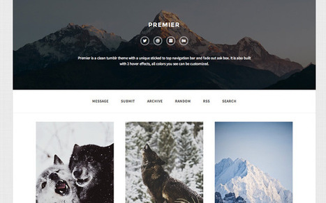 20 Gorgeous Premium Tumblr Themes | Public Relations & Social Media Insight | Scoop.it