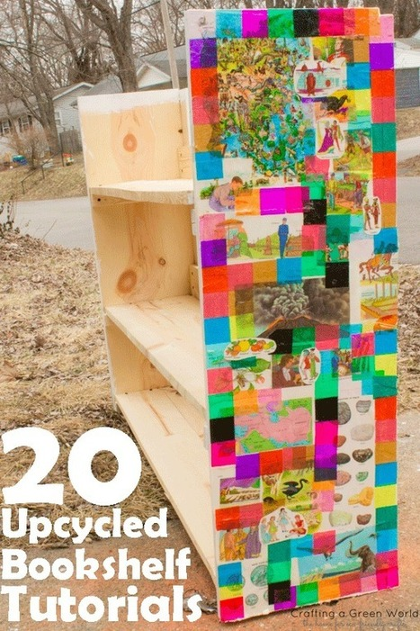 20 Upcycled Bookshelf Tutorials - time for Spring Cleaning! | Eco Reality | Scoop.it