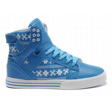 New Supra Skytop High Tops Blue White Men Shoes | new and share style | Scoop.it