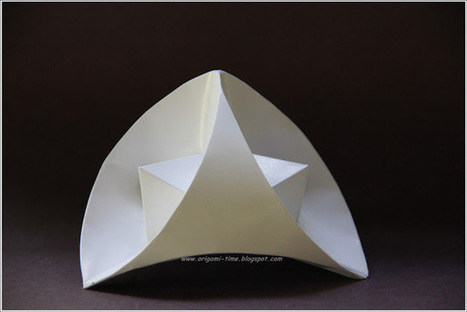 Origami Stellated Curved Tetrahedron | Made with (and of) Paper | Scoop.it