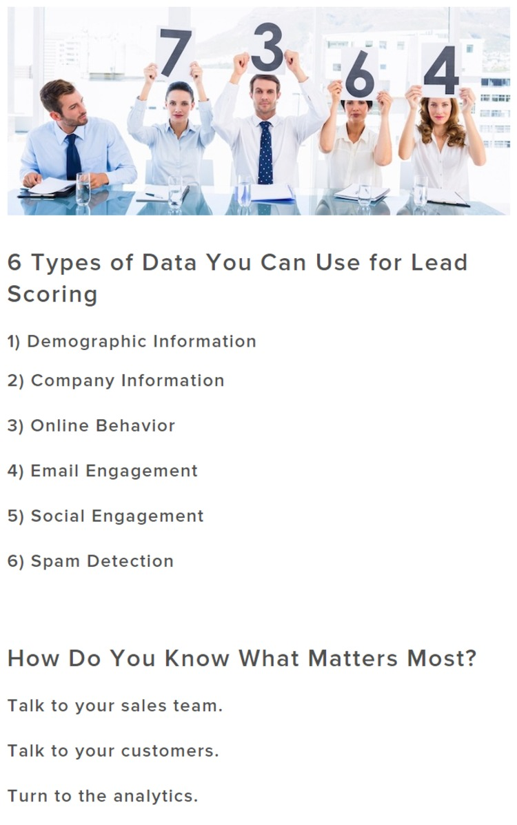 Lead Scoring 101: How to Use Data to Calculate a Basic Lead Score - HubSpot | The Marketing Technology Alert | Scoop.it