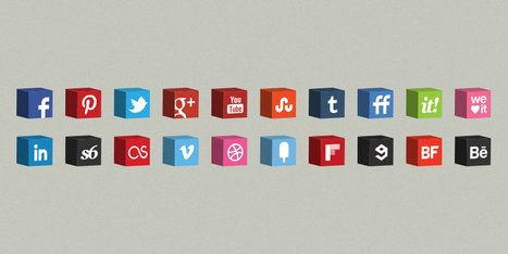 3D Cube Icons Set - Social Network Icons | Art Collection | Scoop.it