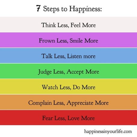 Achieving Happiness Is Easier Than You Think: 7 Steps to Be Happy Right Now | Positive futures | Scoop.it