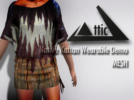 Native Kaftan Mesh Top Wearable Demo by ATTIC | Teleport Hub - Second Life Freebies | Second Life Freebies | Scoop.it