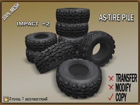 Tire Pile Decor by Total Destruction | Teleport Hub - Second Life Freebies | Second Life Freebies | Scoop.it