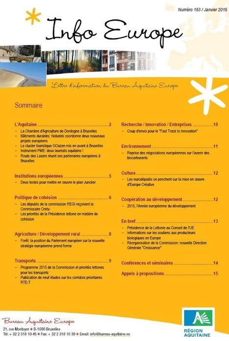 La lettre Info Europe de décembre 2015 du conseil régional d'Aquitaine est en ligne | Fonds européens en Aquitaine | Scoop.it