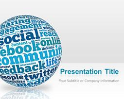 Blue Sphere Social Media PowerPoint Template | Media | Scoop.it