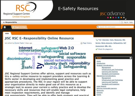 JISC RSC E-Responsibility Online Resource | Digital Media &Culture | Scoop.it