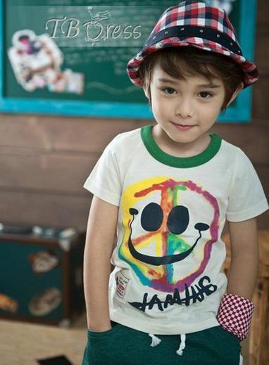 Chromatic Cotton Kid's Smile T-shirt | kid dress | Scoop.it