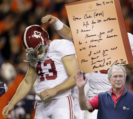George W. Bush to embattled Alabama kicker: You will be stronger | Nerd Vittles Daily Dump | Scoop.it