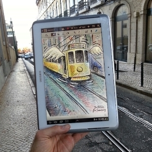 Artista belga redesenha Lisboa em dispositivos Samsung | mediascapes | Scoop.it