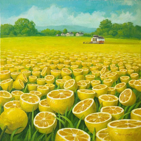 World Full Of #Lemons By #Surrealist Painter #VitalyUrzhumov. #art #painting | Luby Art | Scoop.it