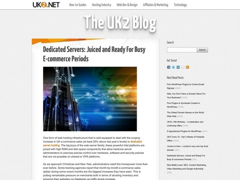Dedicated Servers: Juiced and Ready For Busy E-commerce … – UK2   Digital-News on Scoop.it today   Scoop.it