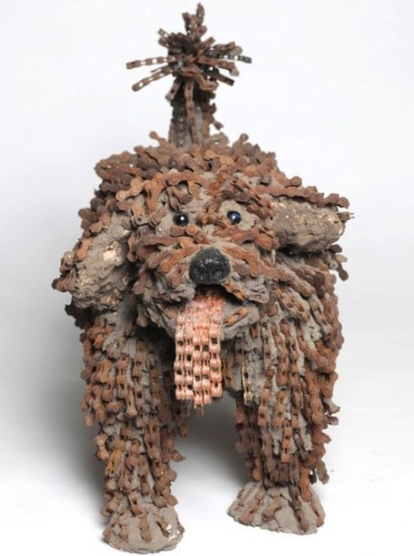 Incredible Dog Sculptures Made Out of Bicycle Chains | The Wondrous Design Magazine | Food for Pets | Scoop.it