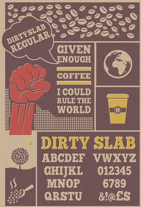 Dirty Slab old letterpress font with free download | My Typefaces | Scoop.it