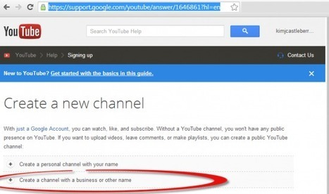 How To Connect Google+ To One Or More Brand New YouTube Channel(s) Without Needing To Create New Google Logins | Small Business Resources | Scoop.it
