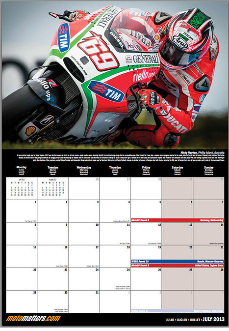 Ductalk Gift Guide | The MotoMatters.com 2013 Motorcycle Racing Calendar | MotoMatters.com | Desmopro News | Scoop.it