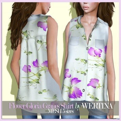 Flower Gloria Grapes Shirt Color Me Project Group Gift by WERTINA | Teleport Hub - Second Life Freebies | Second Life Freebies | Scoop.it
